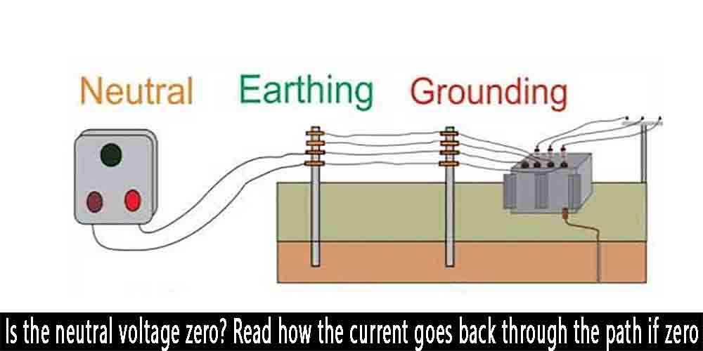 Is the neutral voltage zero?How the current goes back through the path if zero